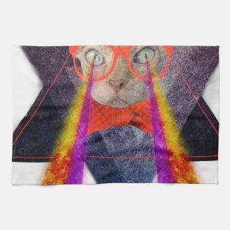 Crazy Cat Laser Beam Fantasy Towel