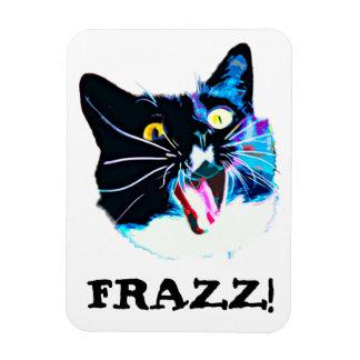 "Crazy Cat magnet, ""FRAZZ!"" Rectangular Photo Magnet"