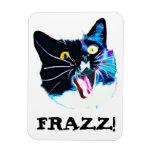 "Crazy Cat magnet, ""FRAZZ!"" Vinyl Magnet"