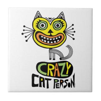 Crazy Cat Person - tile