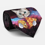 Crazy Cat Taco Pizza Space Tie<br><div class='desc'>Get ready to rock your next board meeting with this stylish tie. Show your colleagues that you are a force to be reckoned with. Be the envy of the office and walk about with the confidence that no one has a tie that can contend with yours.</div>