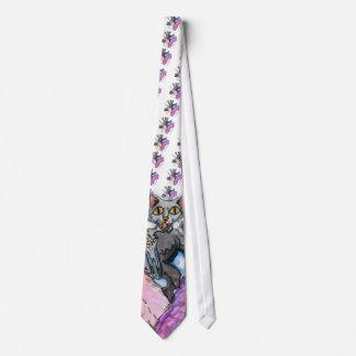 crazy cat tie