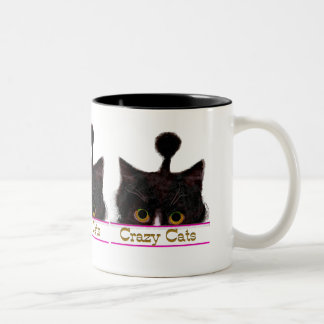 CRAZY CATS Two-Tone COFFEE MUG