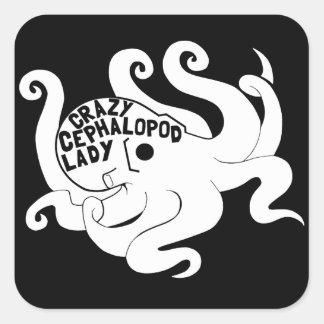 Crazy Cephalopod Lady Stickers