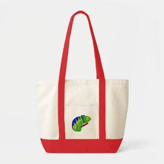 Crazy Chameleon Tote Bag
