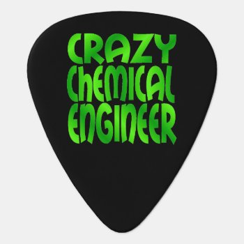 Crazy Chemical Engineer In Green Guitar Pick by Graphix_Vixon at Zazzle