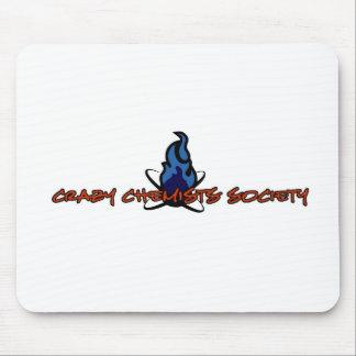 Crazy Chemists Society Logo Mouse Pad