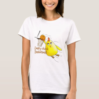 (Crazy Chick Basketball) T-Shirt