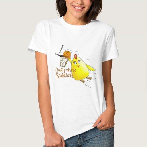 (Crazy Chick Basketball) T-shirts