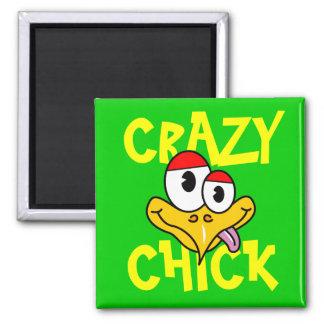 Crazy Chick Fridge Magnet