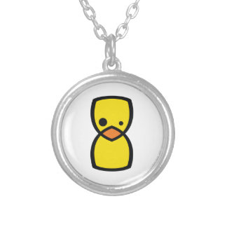 Crazy Chick Silver Plated Necklace