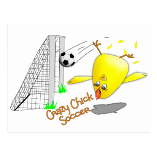 Crazy Chick soccer Postcard