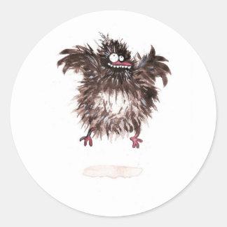 Crazy chicken classic round sticker
