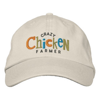 Crazy Chicken Farmer Embroidery Hat