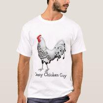 Crazy Chicken Guy Mens T-Shirt