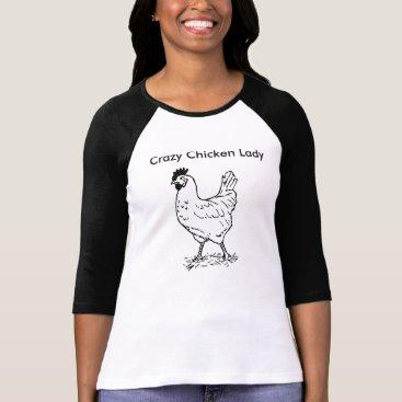 MommyKazam Crazy Chicken Lady 3/4 Sleeve Shirt