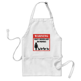 Crazy Chicken Lady Apron