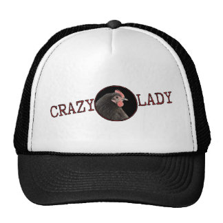 Crazy Chicken Lady Crooked Scribble Mesh Hat
