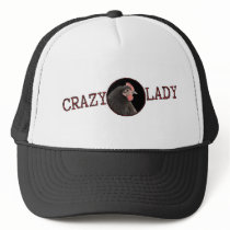 Crazy Chicken Lady Crooked Scribble Trucker Hat