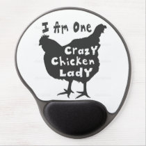 Crazy Chicken Lady Gel Mouse Pad