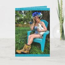 Crazy Chicken Lady -  Happy Birthday Card