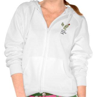 Crazy Chicken Lady Hooded Sweatshirt