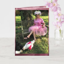 Crazy Chicken Lady PINK-  Happy Birthday Card