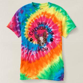 Crazy Chihuahua Lady Rainbow Tye Dye Shirt