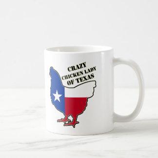 Crazy chiken lady of Texas Coffee Mug