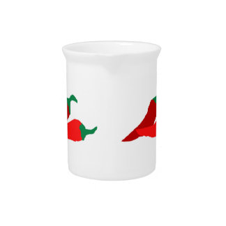 Crazy Chili Peppers Beverage Pitchers