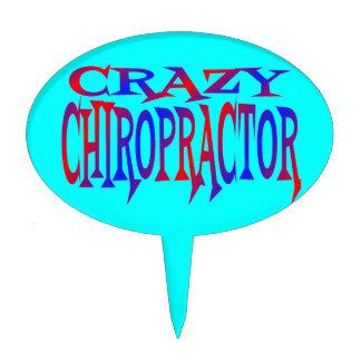 Crazy Chiropractor Cake Picks