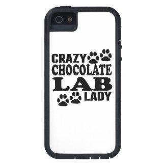 Crazy Chocolate Lab Lady iPhone SE/5/5s Case