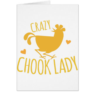 crazy chook lady card