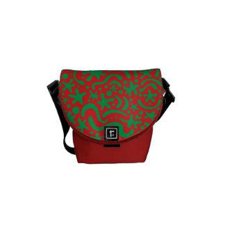 Crazy Christmas Blob & Squiggle Courier Bag