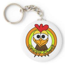Crazy Chuck Chicken Head Keychain