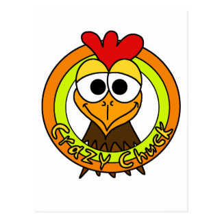 Crazy Chuck Chicken Head Postcard