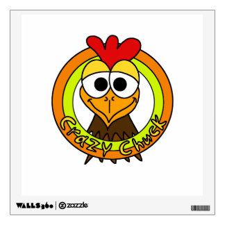 Crazy Chuck Chicken Head Wall Graphic