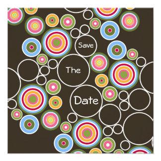 Crazy Circles Personalized Invites