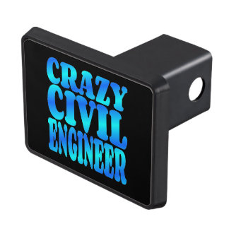 Crazy Civil Engineer Tow Hitch Cover