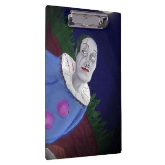 Crazy clown clipboard