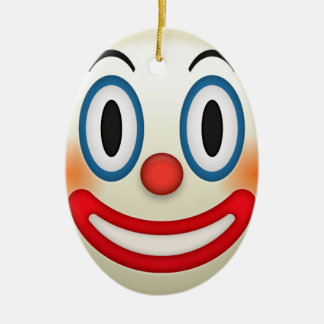 Crazy Clown Emoji Ceramic Ornament