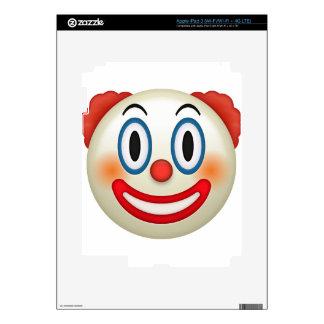 Crazy Clown Emoji Decal For iPad 3