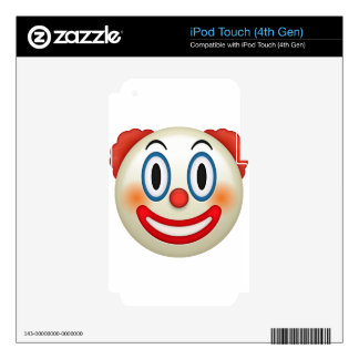 Crazy Clown Emoji Skin For iPod Touch 4G