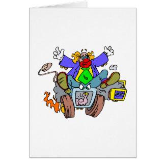 Crazy Clown Guy Card