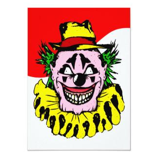 Crazy Clown Halloween Invitation