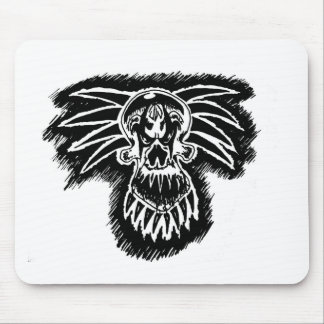 Crazy Clown Skull Mouse Pad