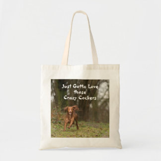 Crazy Cockers Go Wild in the Woods Tote Bag
