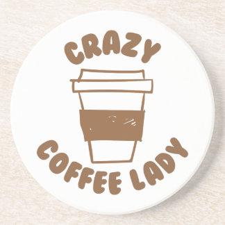 crazy coffee lady coaster