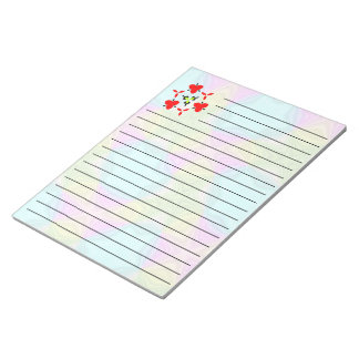 Crazy Color pattern Notepad