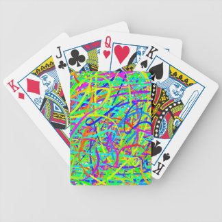 Crazy Colored Lines Playing Cards